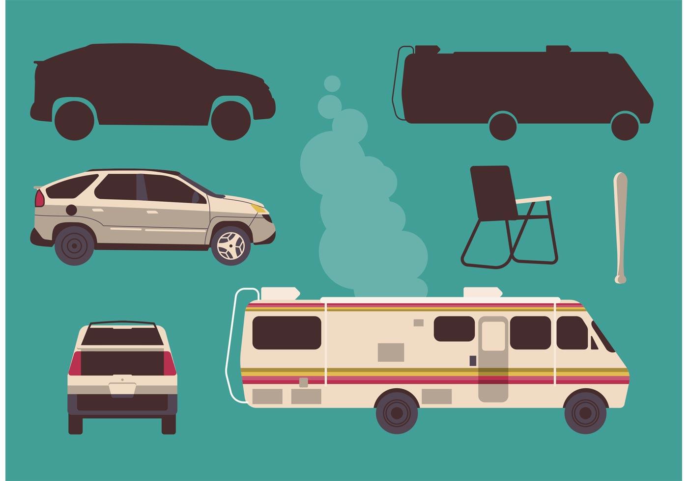 breaking bad vehicle vector set   vector art stock graphics images