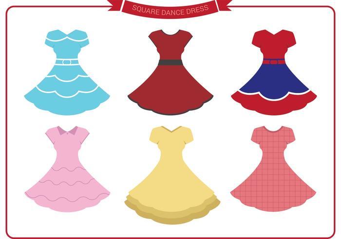 Square Dance Dress Vectors