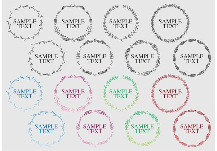Decorative Boho Round Frame Vectors