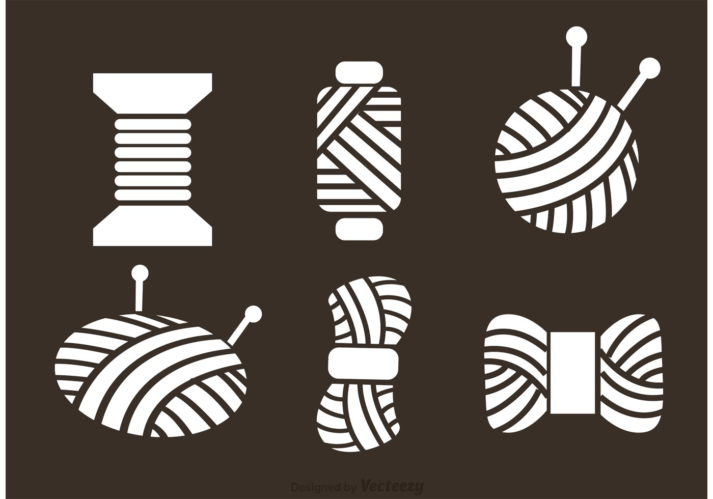Free Knitting Icons Clipart : Ball of yarn vector icons download free art