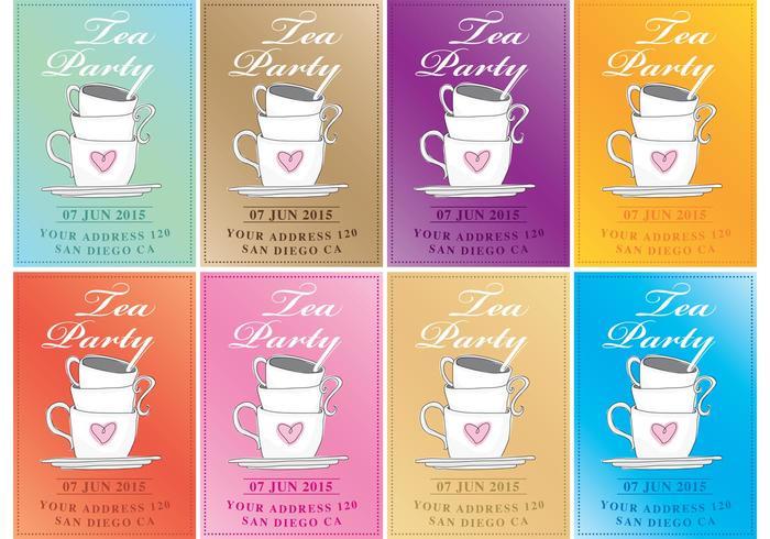 Tea Party Vector Invitations