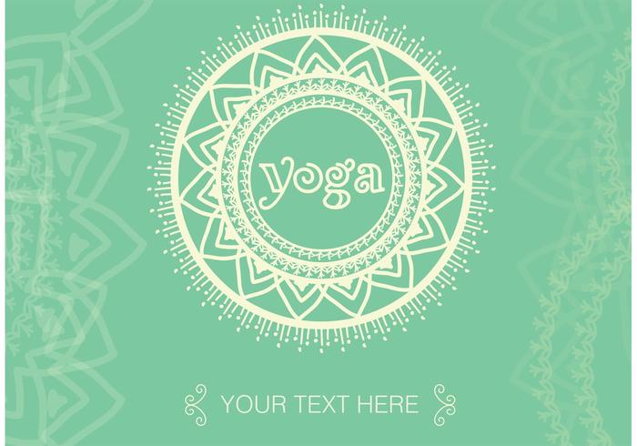 Boho Yoga Meditation Vector Background