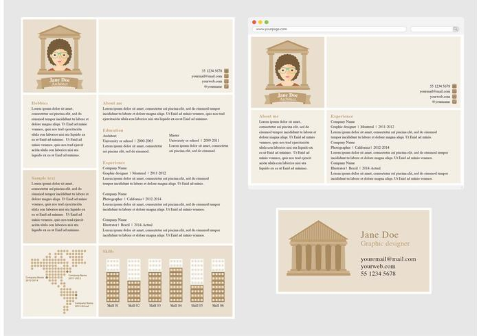 Vector Curriculum Vitae For Architect Download Free Vector Art
