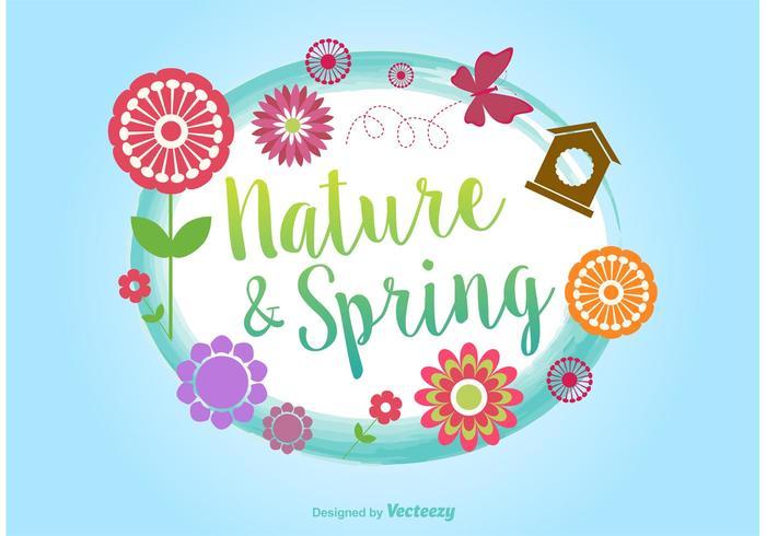 Springtime Typographic Vector Background