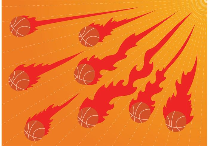 Burning Basketball on Fire Vectors