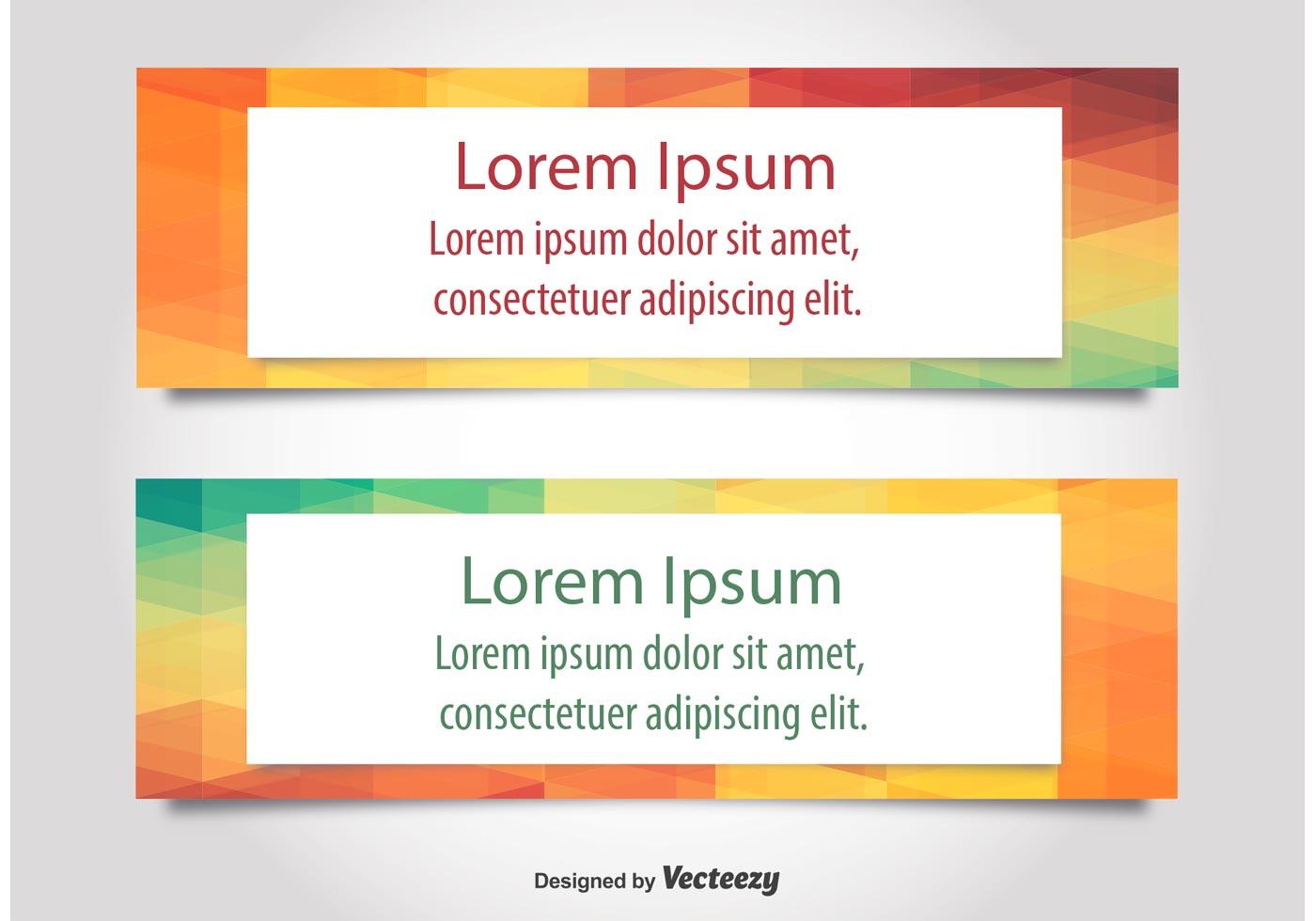 Modern text web banner vectors download free vector art - Text banner design ...