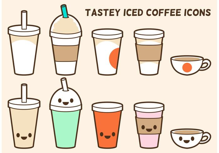 Iced Coffee Vector Icons