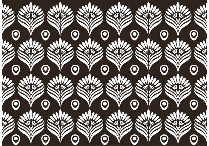 Black and White Peacock Pattern Vector