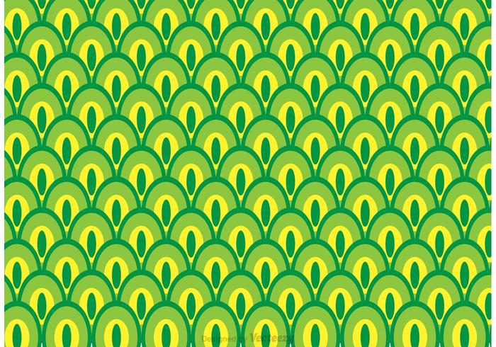 Green Peacock Tail Pattern Vector