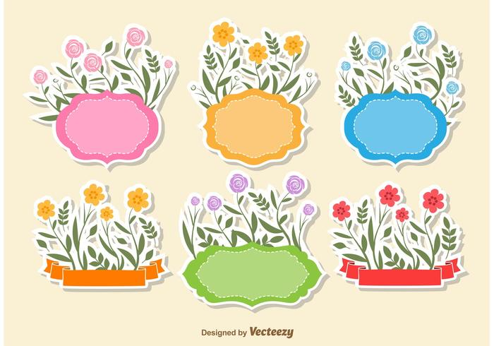 Floral Text Frame Vectors