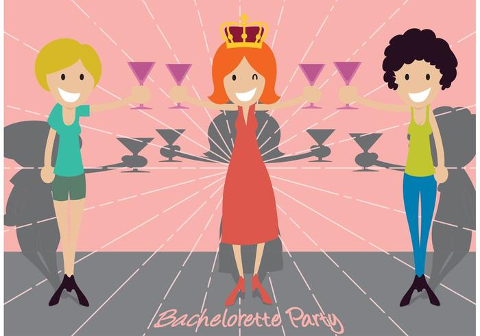 Bachelorette Party Illustration