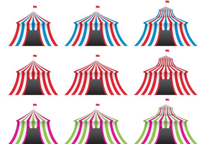 Colorful Big Top Vectors