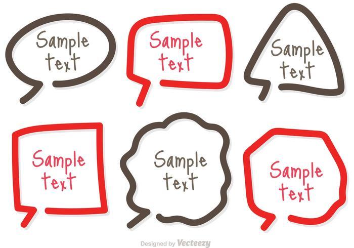 Modèle de boîte de texte vecteurs de ligne simples
