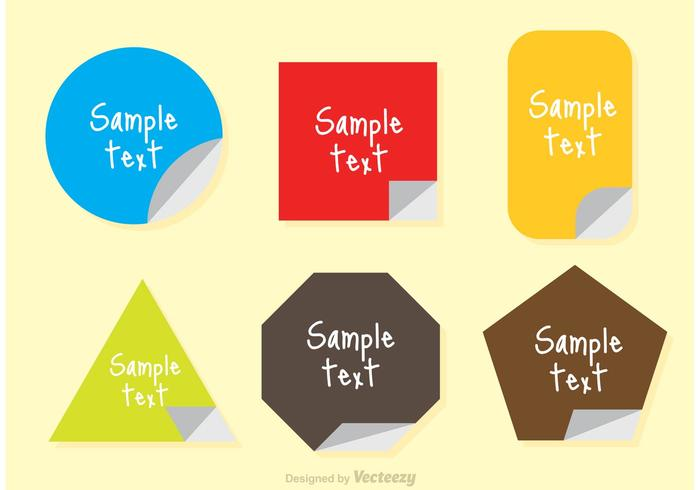Sticker Text Box Vector