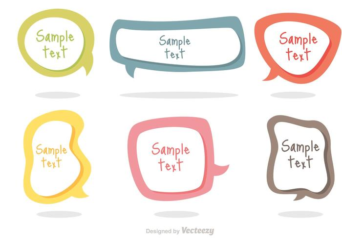 Colorful Text Bubble Vectors