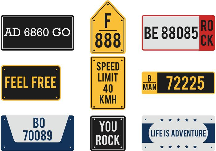 License Plate Vector Pack