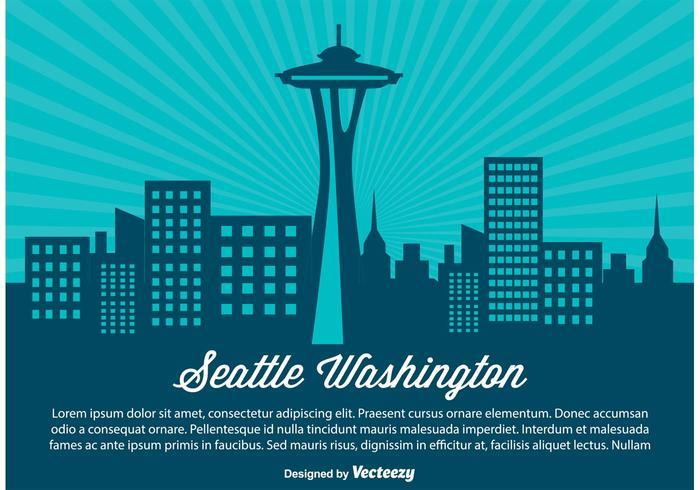 Illustration de seattle skyline