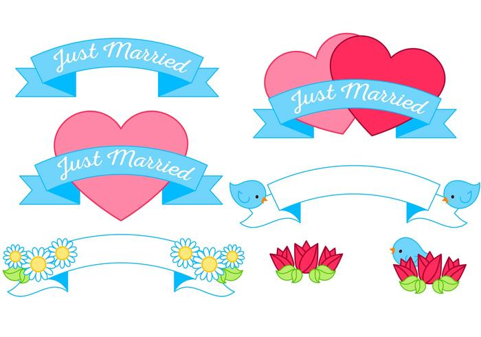 Just Married Vector Graphics