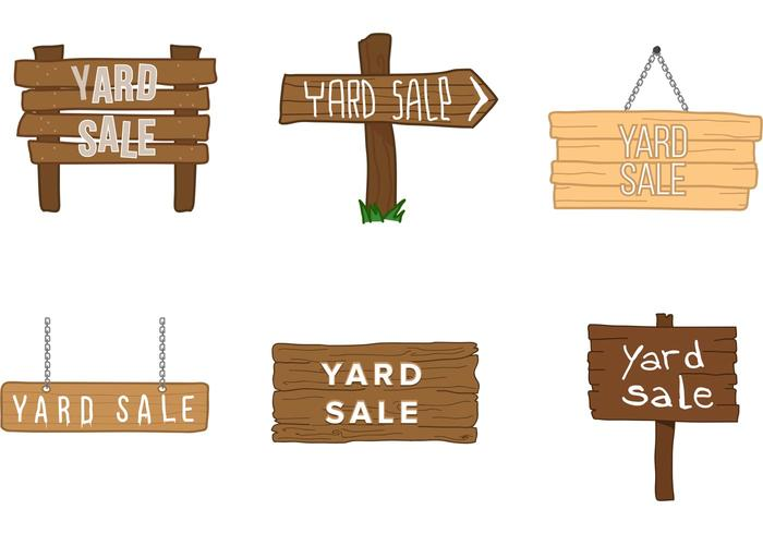 Yard Sale Wooden Sign Vectorss