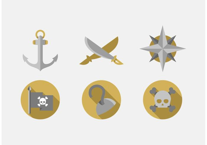 Pirate Vector Icons Set
