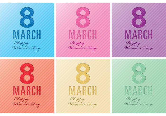 Women's Day Card Vectors