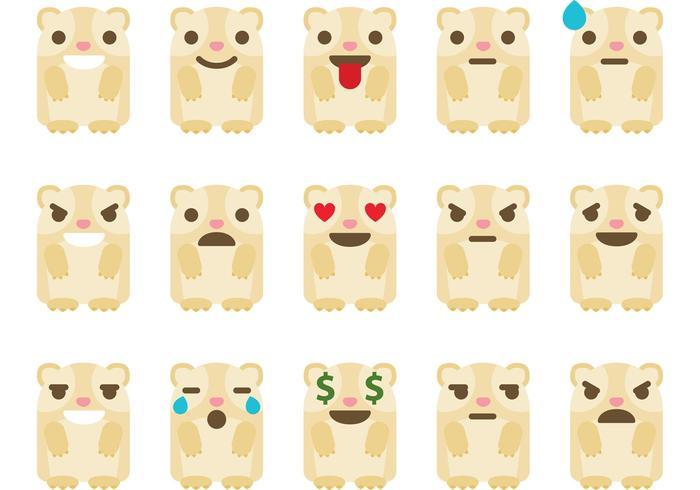 Guinea Pig Emoticon Vectores