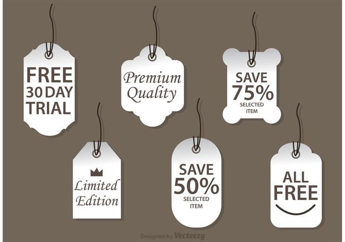 Promo White Labels Vectors