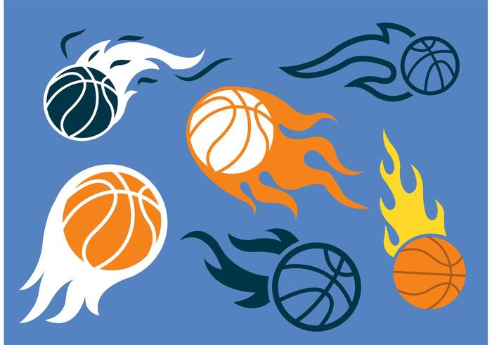 Basketball on Fire Vector Pack