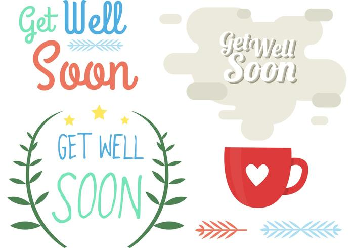Get Well Soon Element Vectores