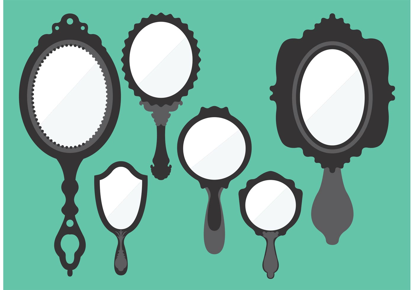 Vintage Hand Mirror Vectors - Download Free Vector Art ...