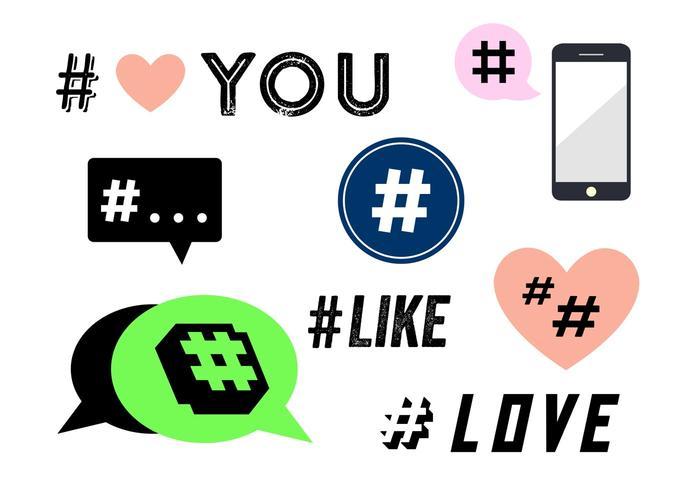 Hashtag-Vektoren