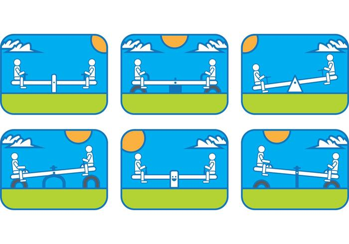 See Saw Vector Scenes