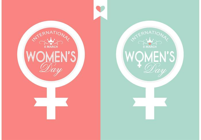Vector Women's Day Typography Design