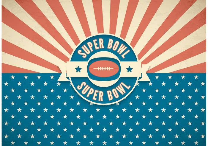 Free Super Bowl Retro Vector Background