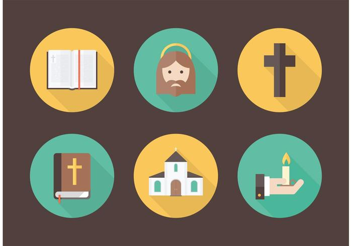 Free Flat Christianity Vector Icons