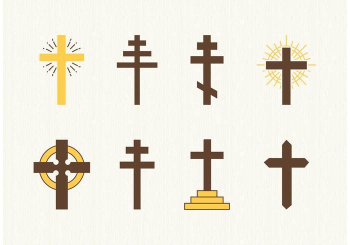 Libres Cristianos Cruces Vector