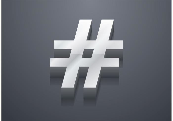 Free 3D Hashtag Vector
