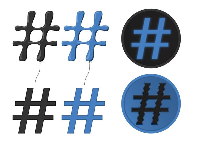 Be Popular With Hashtag Vectors