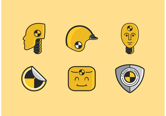 Crash Dummy Vector Icons