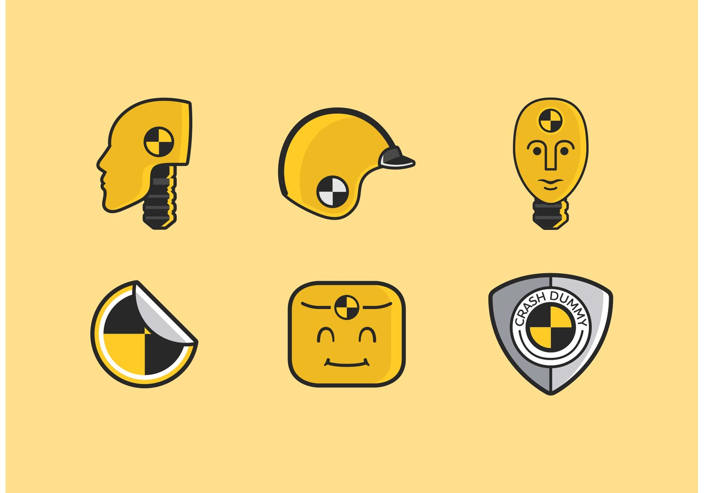 crash dummy vector icons download free vector art stock
