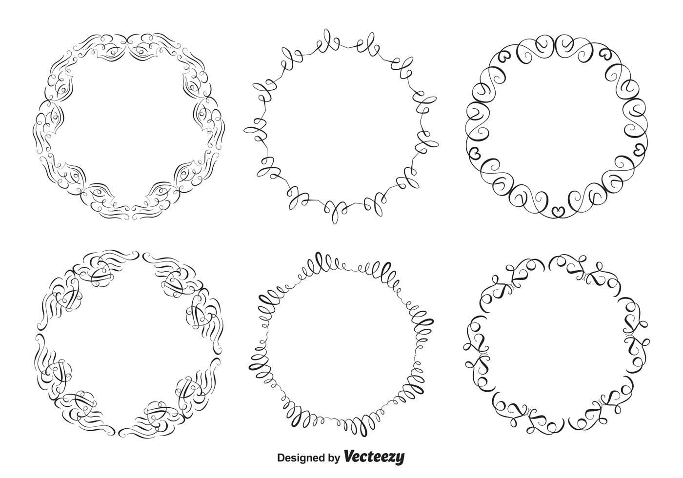 Dekorative Rahmen Set - Kostenlose Vektor-Kunst, Archiv-Grafiken ...