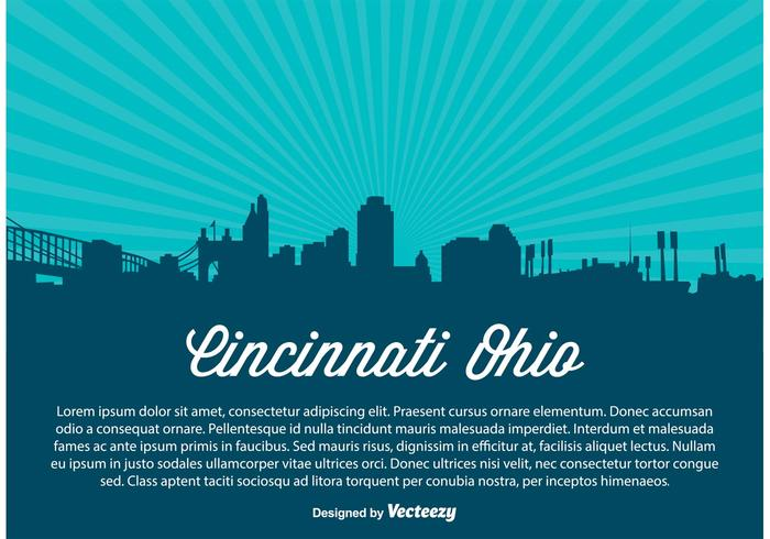 Cincinnati Skyline Illustration