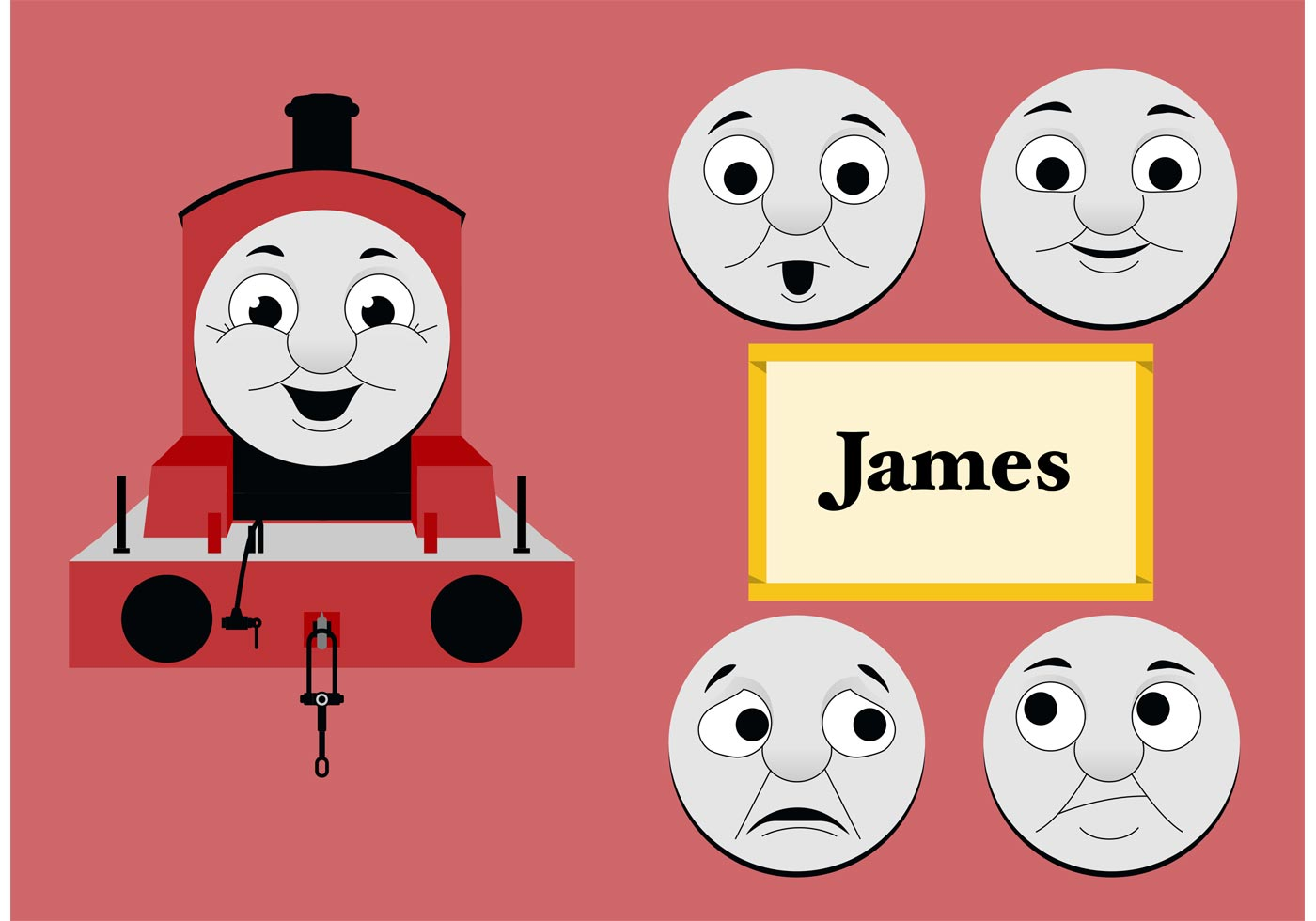 James from thomas the tank engine free vector download for Thomas the tank engine face template
