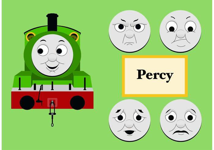 Percy de Thomas the Tank Engine Free Vector
