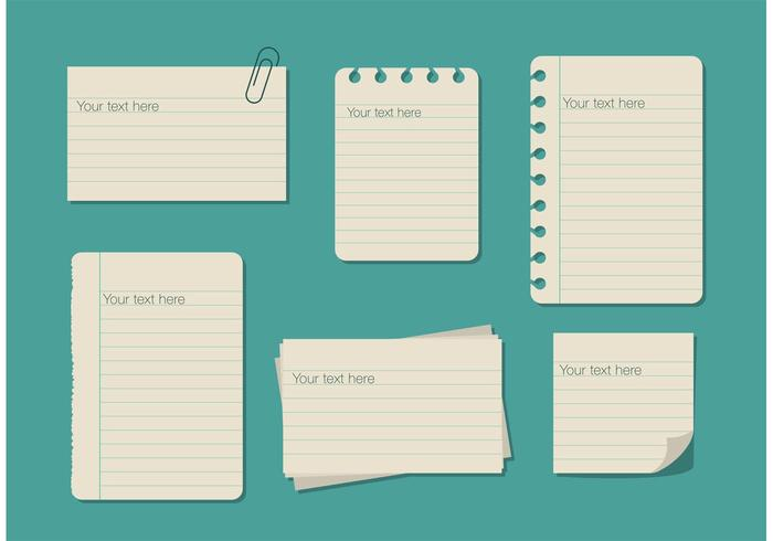 Ruled Paper Text Box Templates vector