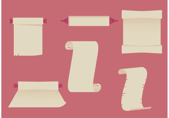 Conjunto de desplazamientos de papel