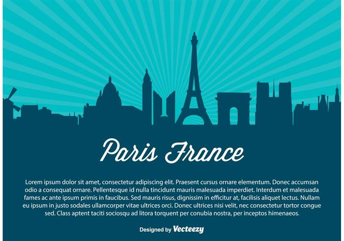 Paris Skyline Vector Illustration