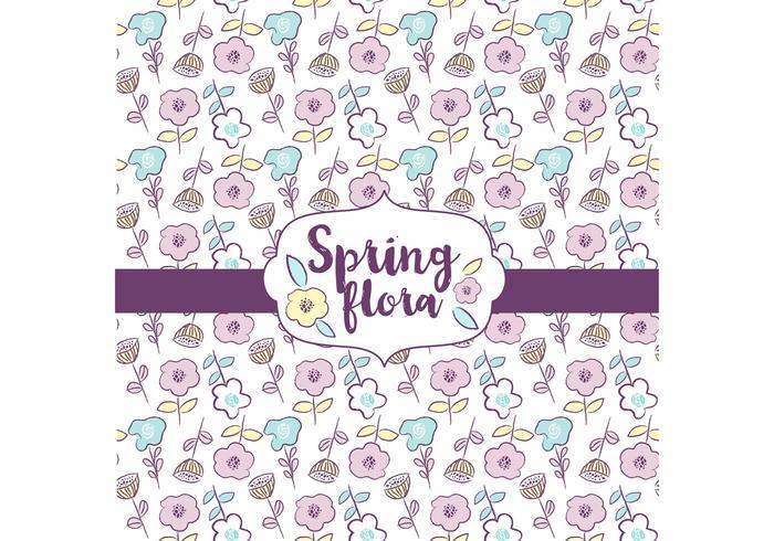 Diseño de patrones de flora de primavera