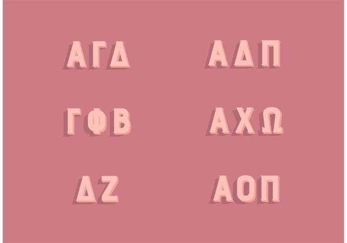 Populair Sorority Griekse Letters Set