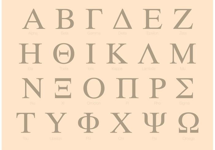 Serif Griechisches Alphabet Set